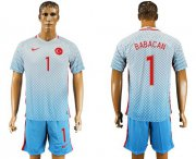 Wholesale Cheap Turkey #1 Babacan Away Soccer Country Jersey