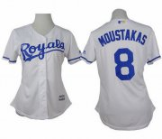 Wholesale Cheap Royals #8 Mike Moustakas White Home Women's Stitched MLB Jersey