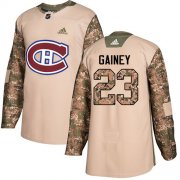 Wholesale Cheap Adidas Canadiens #23 Bob Gainey Camo Authentic 2017 Veterans Day Stitched NHL Jersey