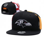 Wholesale Cheap Ravens Team Logo Black 2019 Draft Adjustable Hat YD