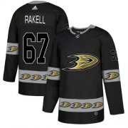 Wholesale Cheap Adidas Ducks #67 Rickard Rakell Black Authentic Team Logo Fashion Stitched NHL Jersey