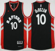Wholesale Cheap Men's Toronto Raptors #10 Demar DeRozan Revolution 30 Swingman 2015-16 New Black Jersey