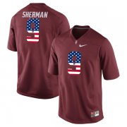 Wholesale Cheap Stanford Cardinal 5 Christian McCaffrey Red USA Flag College Football Limited Jersey