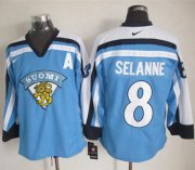 Wholesale Jets #8 Teemu Selanne Light Blue Nike Throwback Stitched NHL Jersey