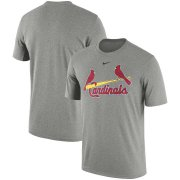 Wholesale Cheap St. Louis Cardinals Nike Batting Practice Logo Legend Performance T-Shirt Gray