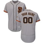 Wholesale Cheap San Francisco Giants Majestic Alternate Flex Base Authentic Collection Custom Jersey Gray