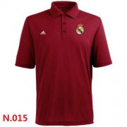 Wholesale Cheap Adidas Real Madrid CF Textured Solid Performance Polo Red
