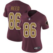 Wholesale Cheap Nike Redskins #86 Jordan Reed Burgundy Red Alternate Women's Stitched NFL Vapor Untouchable Limited Jersey