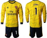 Wholesale Cheap Arsenal #1 Leno Away Long Sleeves Soccer Club Jersey