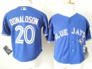 Wholesale Cheap Toddler Blue Jays #20 Josh Donaldson Blue Cool Base Stitched MLB Jersey