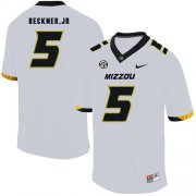 Wholesale Cheap Missouri Tigers 5 Terry Beckne Jr. White Nike College Football Jersey