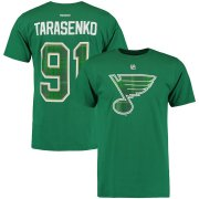 Wholesale Cheap St. Louis Blues #91 Vladimir Tarasenko Reebok St. Paddy's Day Name & Number T-Shirt Green