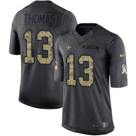Wholesale Cheap Nike Saints #13 Michael Thomas Black Youth Stitched NFL Limited 2016 Salute to Service Jersey