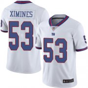 Wholesale Cheap Nike Giants #53 Oshane Ximines White Men's Stitched NFL Limited Rush Jersey