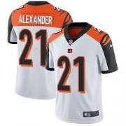 Wholesale Cheap Nike Bengals #21 Mackensie Alexander White Men's Stitched NFL Vapor Untouchable Limited Jersey