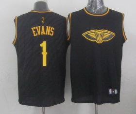 Wholesale Cheap New Orleans Pelicans #1 Tyreke Evans Revolution 30 Swingman 2014 Black With Gold Jersey