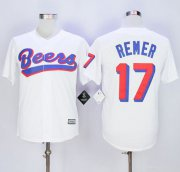 Wholesale Cheap Beers Movie #17 Doug Remer White Stitched Baseball Jersey