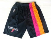 Wholesale Cheap Miami Heat Black Floridians Rainbow Short