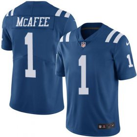 Wholesale Cheap Nike Colts #1 Pat McAfee Royal Blue Men\'s Stitched NFL Limited Rush Jersey