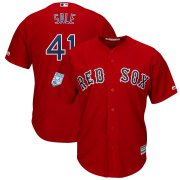 Wholesale Cheap Red Sox #41 Chris Sale Red 2019 Spring Training Cool Base Stitched MLB Jersey