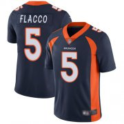 Wholesale Cheap Nike Broncos #5 Joe Flacco Navy Blue Alternate Men's Stitched NFL Vapor Untouchable Limited Jersey