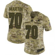 Wholesale Cheap Nike Cowboys #70 Zack Martin Camo Women's Stitched NFL Limited 2018 Salute to Service Jersey