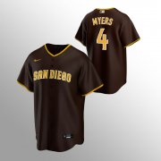 Wholesale Cheap Men's San Diego Padres #4 Wil Myers Brown Replica Nike Road Jersey
