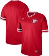 Wholesale Cheap Nike Reds Blank Red Authentic Cooperstown Collection Stitched MLB Jersey