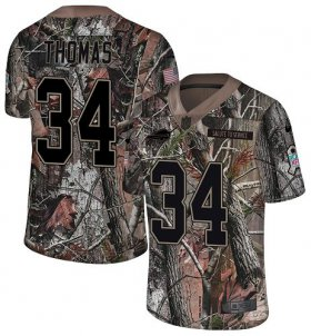 Wholesale Cheap Nike Bills #34 Thurman Thomas Camo Men\'s Stitched NFL Limited Rush Realtree Jersey