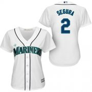 Wholesale Cheap Mariners #2 Jean Segura White Home Women's Stitched MLB Jersey