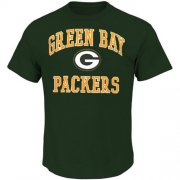 Wholesale Cheap Green Bay Packers Majestic Big and Tall Heart & Soul III T-Shirt Green