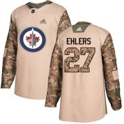 Wholesale Cheap Adidas Jets #27 Nikolaj Ehlers Camo Authentic 2017 Veterans Day Stitched Youth NHL Jersey