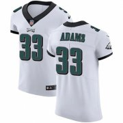 Wholesale Cheap Nike Eagles #33 Josh Adams White Men's Stitched NFL Vapor Untouchable Elite Jersey