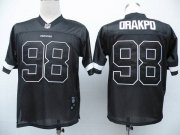 Wholesale Cheap Redskins #98 Brian Orakpo Black Shadow Stitched NFL Jersey
