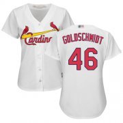 Wholesale Cheap Cardinals #46 Paul Goldschmidt White Home Women's Stitched MLB Jersey