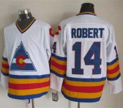 Wholesale Avalanche #14 Rene Robert White CCM Throwback Stitched NHL Jersey