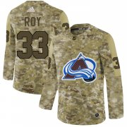 Wholesale Cheap Adidas Avalanche #33 Patrick Roy Camo Authentic Stitched NHL Jersey
