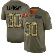 Wholesale Cheap Denver Broncos #30 Phillip Lindsay Men's Nike 2019 Olive Camo Salute To Service Limited NFL Jersey