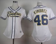 Wholesale Cheap Padres #46 Craig Kimbrel White Home Women's Stitched MLB Jersey