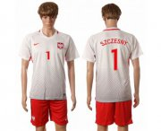 Wholesale Cheap Poland #1 Szczesny Home Soccer Country Jersey