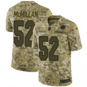 Wholesale Cheap Nike Dolphins #52 Raekwon McMillan Camo Men's Stitched NFL Limited 2018 Salute To Service Jersey
