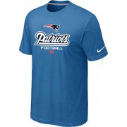 Wholesale Cheap Nike New England Patriots Critical Victory NFL T-Shirt Light Blue