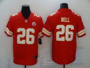 Wholesale Cheap Men's Kansas City Chiefs #26 LeVeon Bell Red 2020 Vapor Untouchable Stitched NFL Nike Limited Jersey