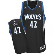 Wholesale Cheap Minnesota Timberwolves #42 Kevin Love Black Swingman Jersey