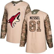 Wholesale Cheap Adidas Coyotes #81 Phil Kessel Camo Authentic 2017 Veterans Day Stitched NHL Jersey