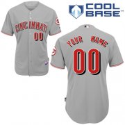 Wholesale Cheap Reds Personalized Authentic Grey MLB Jersey (S-3XL)