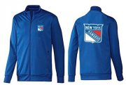 Wholesale Cheap NHL New York Rangers Zip Jackets Blue-2