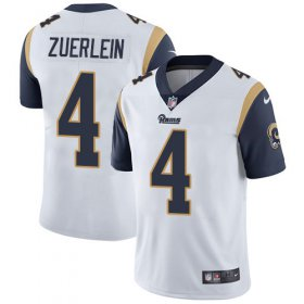 Wholesale Cheap Nike Rams #4 Greg Zuerlein White Men\'s Stitched NFL Vapor Untouchable Limited Jersey