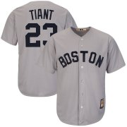 Wholesale Cheap Boston Red Sox #23 Luis Tiant Majestic Cooperstown Collection Cool Base Player Jersey Gray