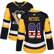 Wholesale Cheap Adidas Penguins #81 Phil Kessel Black Home Authentic USA Flag Women's Stitched NHL Jersey